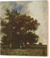 Fontainebleau Oaks 1840 Wood Print
