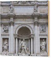 Fontana De Trevi Wood Print