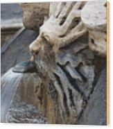 Fontana Della Barcaccia Sun Wood Print