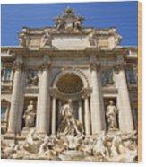 Fontana Di Trevi Wood Print