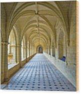 Fontevraud Abbey Cloister, Loire, France Wood Print