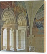 Fontevraud Abbey Refectory, Loire, France Wood Print