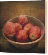 Food - Apples - A Bowl Of Apples  Wood Print