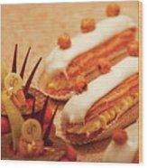 Food - Cake - Little Cakes Wood Print