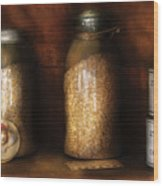 Food - Corn Yams And Oatmeal Wood Print