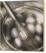 Food - Mix In The Eggs Wood Print