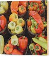 Food - Peppers Wood Print by Paul Ward