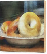 Food - Bagels For Sale Wood Print
