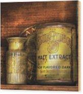 Food - Blue Ribbon Malt Extract Wood Print