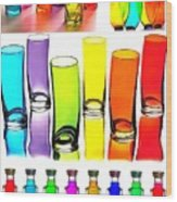 Food Coloring Ensemble-rainbow Theme Wood Print