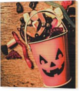 Food For The Little Halloween Spooks Wood Print
