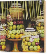 Food In Bali Wood Print