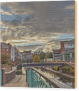 Foot Bridge At Gas Street Basin  Birmingham Wood Print
