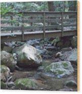 Foot Bridge Over Notch Brook Wood Print