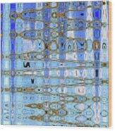 Foot Bridge Over Tempe Town Lake Abstract Wood Print