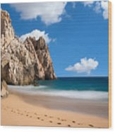 Foot Prints In Cabo Wood Print