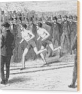 Foot Race, 1868 Wood Print