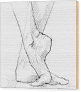 Foot Study Wood Print