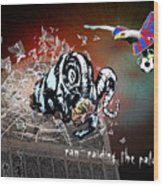 Football Derby Rams Against Crystal Palace Eagles Wood Print