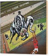 Football Derby Rams Against Nottingham Forest Red Dogs Wood Print
