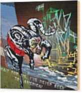 Football Derby Rams Against Plymouth Pilgrims Wood Print
