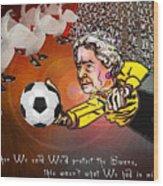 Football Derby Rams Against Swansea Swans Wood Print