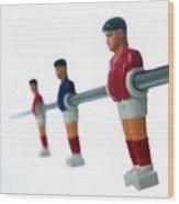 Football Figurines Wood Print