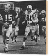 Football Game, 1966 Wood Print