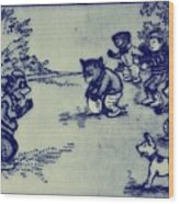Football In The Park Wood Print