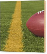 Football Short Of The Goal Line Close Wood Print
