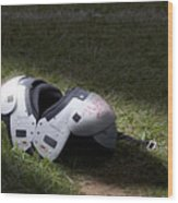 Football Shoulder Pads Wood Print
