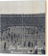 Football, The Game Is Over Panorama Wood Print by Everett