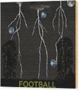 Football Universe Wood Print
