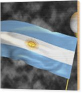Football World Cup Cheer Series - Argentina Wood Print