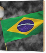 Football World Cup Cheer Series - Brazil Wood Print