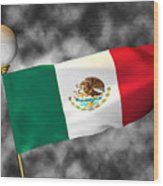 Football World Cup Cheer Series - Mexico Wood Print