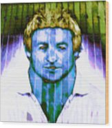 Footballer Wood Print