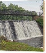 Footbridge Falls Wood Print