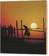 Footbridge In Bangladesh Wood Print