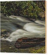 Footbridge Over Raging Moccasin Creek Wood Print