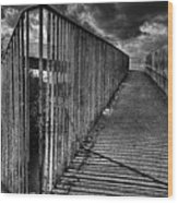 Footbridge Railings Wood Print