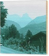 Foothills Of The Alps Wood Print