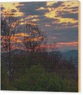 Foothills Parkway Dawn Wood Print