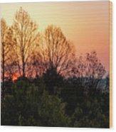 Foothills Parkway Sunrise Wood Print
