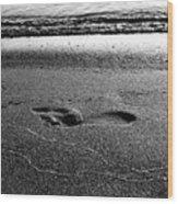 Footprint Bw Wood Print