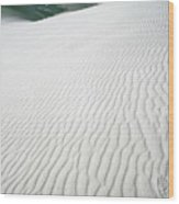 Footprint In White Sands Wood Print