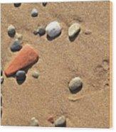Footprint On Sand Wood Print