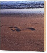 Footprint Wood Print