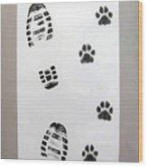 Footprints- Friends Wood Print