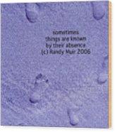 Footprints In Sand - 1 Wood Print